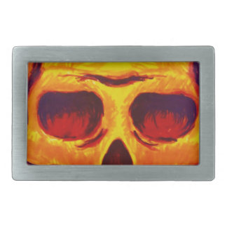 Sketch Skull Rectangular Belt Buckle
