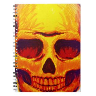 Sketch Skull Spiral Notebook