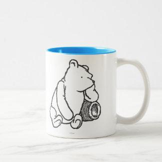 Sketch Winnie the Pooh 2 Two-Tone Coffee Mug