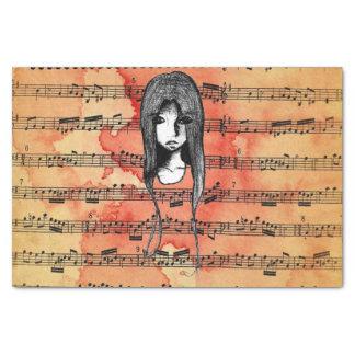 Sketchbook Sketch Grunge Girl Tissue Paper