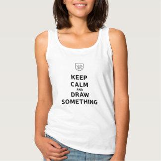Sketchbook Skool: Keep Calm and Draw Something Tank Top