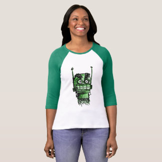 Sketchbot Mad Head (Green) T-Shirt