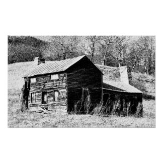 Sketched Cabin Poster