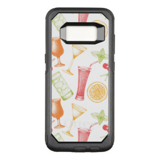 Sketched Cocktail Pattern OtterBox Commuter Samsung Galaxy S8 Case