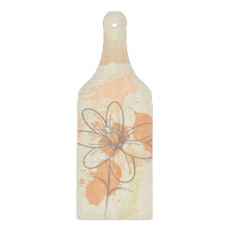 Sketched Floral on Watercolor Splats Boards