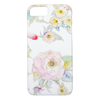 SKETCHED WATERCOLOR FLORAL IPHONE CASE