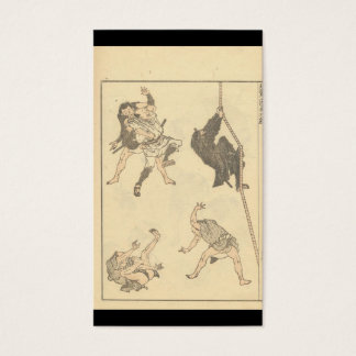 Sketches of Japanese Martial arts, Ninja c. 1800's Business Card