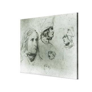 Sketches of Napoleon Bonaparte, 1797 Canvas Print