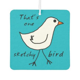 Sketchy Bird Custom Colour Car Freshener