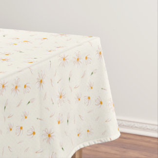 Sketchy daisy flower pattern - floral pattern tablecloth