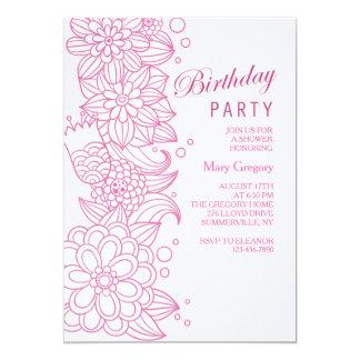 Sketchy Floral Invitation