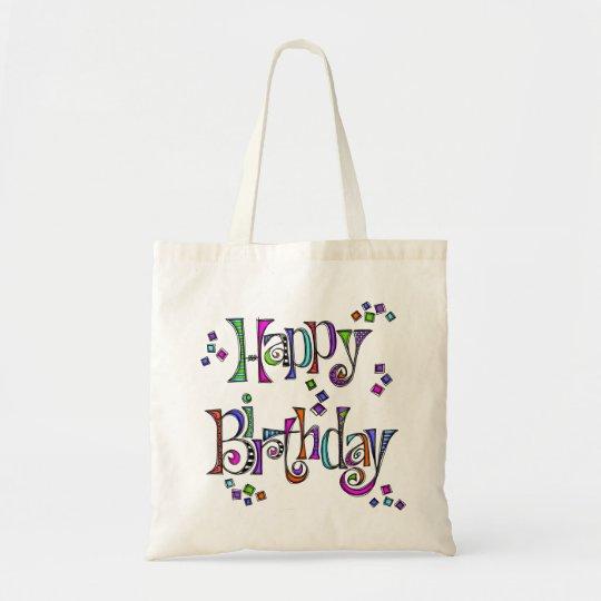Sketchy Happy Birthday Tote Bag
