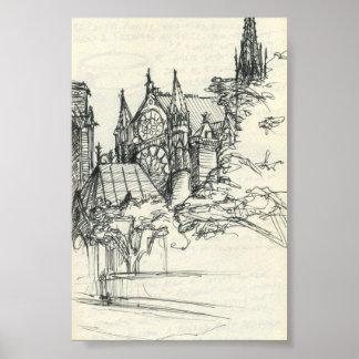 Sketchy In Paris: Notre Dame Poster