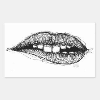 Sketchy Lips Sticker