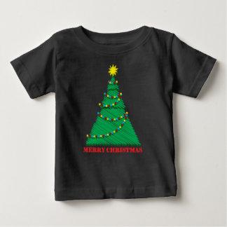 Sketchy Merry Christmas Tree Stroke Baby T-Shirt