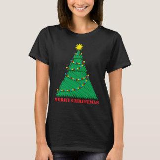 Sketchy Merry Christmas Tree Stroke T-Shirt