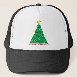Sketchy Merry Christmas Tree Stroke Trucker Hat