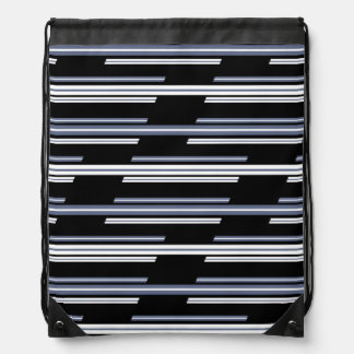 Skewed Stripes Pattern Design Drawstring Bag