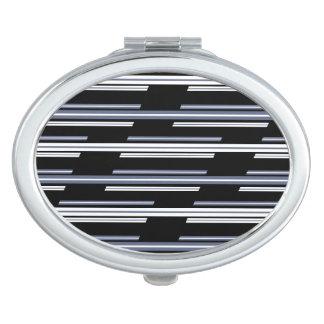 Skewed Stripes Pattern Design Makeup Mirror