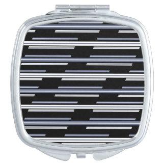 Skewed Stripes Pattern Design Mirror For Makeup
