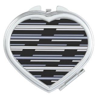 Skewed Stripes Pattern Design Travel Mirror