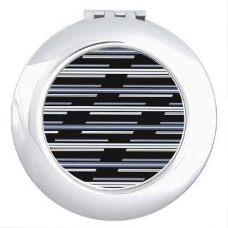 Skewed Stripes Pattern Design Vanity Mirror