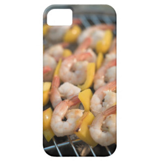 Skewer with grilled shrimps and pepper Sweden. iPhone 5 Cases