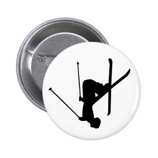 Ski 2 Inch Round Button