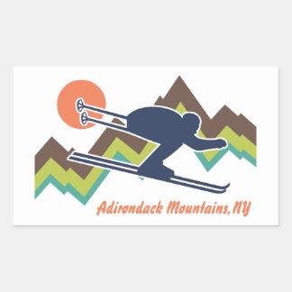Ski Adirondack Mountains NY Sticker
