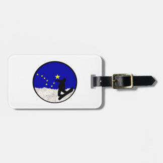 Ski Alaska Luggage Tag