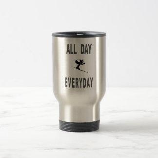 Ski All Day Everyday 15 Oz Stainless Steel Travel Mug