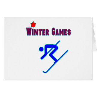 Ski alpin carte de vœux