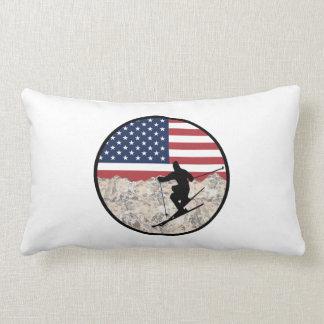 Ski America Lumbar Pillow