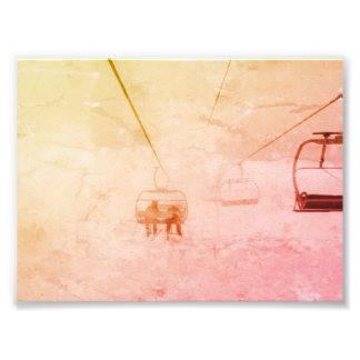 Ski and Snowbaord Lift Abstract photo print