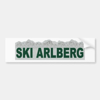 Ski Arlberg Bumper Sticker
