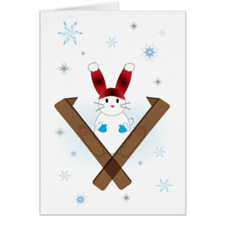 Ski Bunny Greeting Card