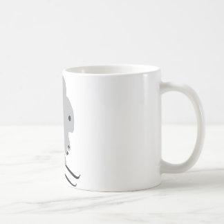ski bunny icon classic white coffee mug