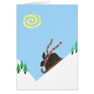 Ski Bunny plain Card