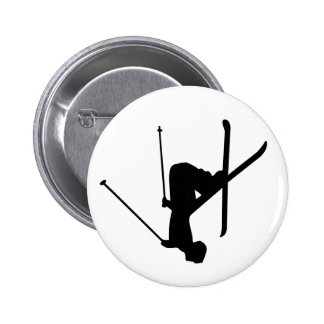 Ski Pinback Button