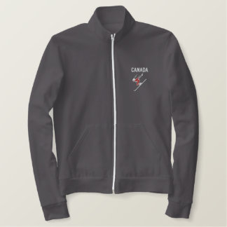 Ski Canada Custom Personalized Sports Embroidered Jacket