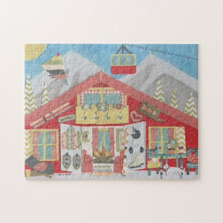 Ski Chalet Jigsaw Puzzle - Ideal Gift