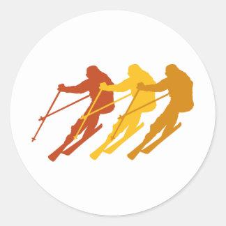 ski classic round sticker