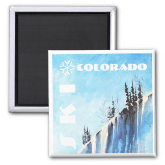 Ski Colorado Art Magnet