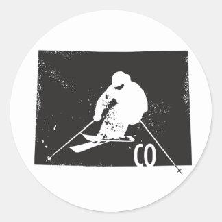 Ski Colorado Classic Round Sticker