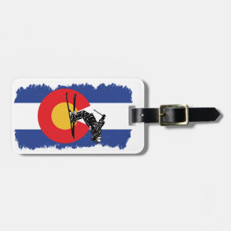 Ski Colorado! Distressed Version Luggage Tag