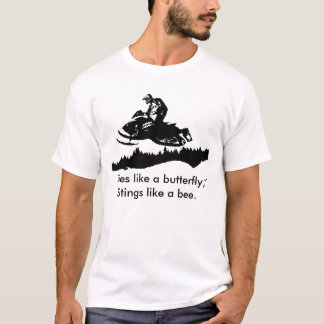 ski-doo-bkg.ai, Flies like a butterfly, Stings ... T-Shirt