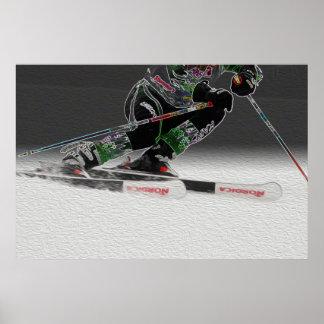 Ski emballant l affiche D1368-038