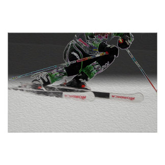 Ski emballant l'affiche D1368-038