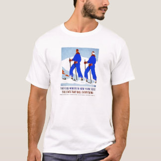 Ski en poster vintage de NewYork T-shirt
