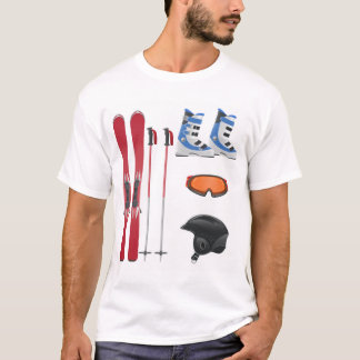 Ski Equipment Mens T-Shirt
